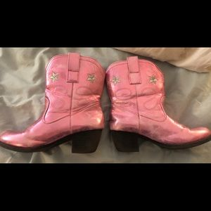 girls size 4 pink metallic cowboy boots